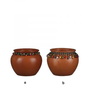 Pot round terracotta large