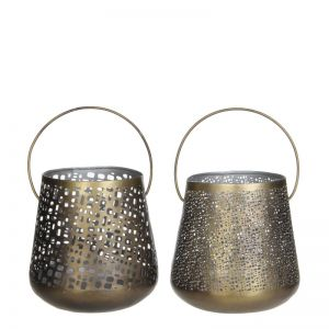 Djerba tealight holder dark gold