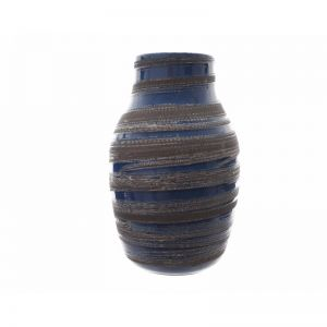 Ceramic vase reactive glaze stripe