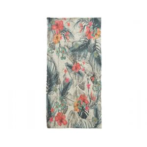 cot rug with print floral