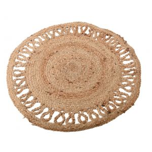 DH jute rug round open weaving