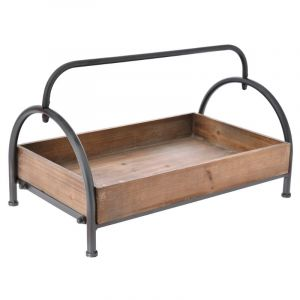 WOODEN TRAY ON STAND