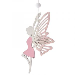 WOODEN DECO FAIRY  HANGING