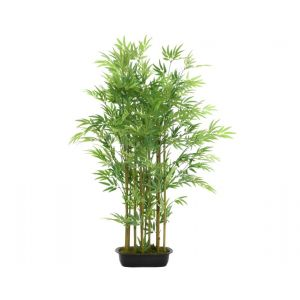 Plastic bamboo fence on foot with 12 branches