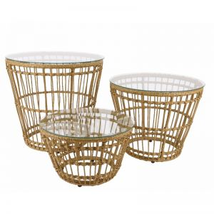 Iron wicker deco table outdoor