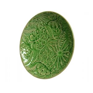porcelain plate with leaves
