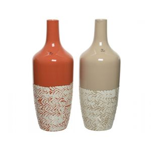Ceramic bottle in two colours