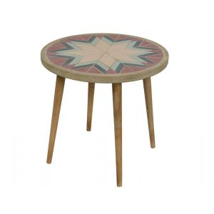 Firwood table with pattern