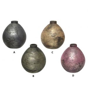 Glass vase in four colours