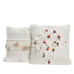 cot cushion w tassels
