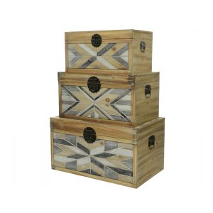 MDF Chest with graphic print in three sizes